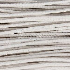 White-10M-1mm-1-5mm-Wax-Coated-String-Cotton-Waxed-Cord-Jewelry-Bracelet-Making