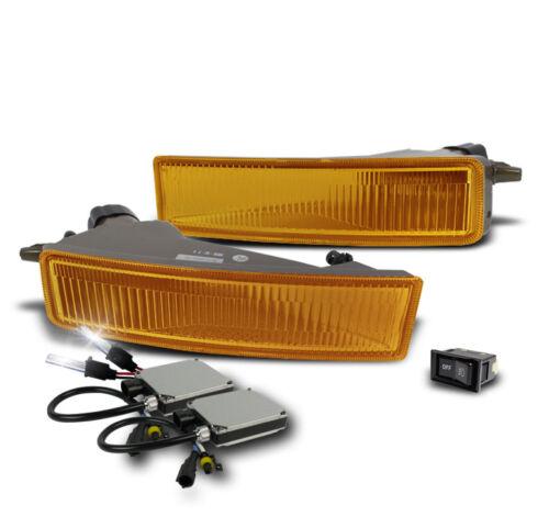 2003-2007 SCION XB FRONT BUMPER YELLOW FOG LIGHTS SET W//6000K XENON HID LAMP KIT