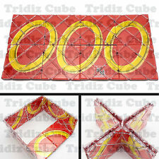 Guo Jia RED 8 Panels 3 Rings Magic Folding Puzzle twisty New Toy - US SELLER -