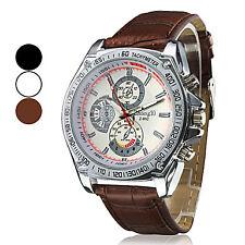 Men's Quartz PU Analog Wrist Watch