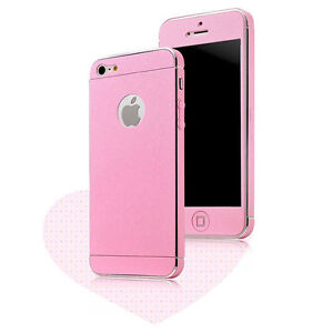 pretty nice 8a790 5f65b Details about Pink Color Full Body Screen Protector Skin Film Case Cover  For Apple iPhone 5S 5