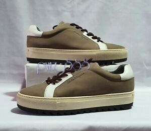 SALVATORE-FERRAGAMO-Nubuck-Leather-Sneakers-Size-6-1-2