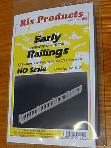 Rix Products #628-104 Early Highway Overpass Railings (HO Scale) 4-50' (Plastic)