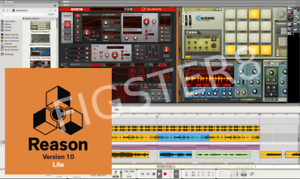2GB sounds Mac or PC 8 tracks Propellerhead REASON 10 LITE 9 instruments