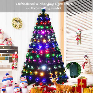 outlet store d0962 9551c Details about 5ft 6ft 7ft Christmas Tree Multicolor Lights Effects Xmas  Trees Decoration LED
