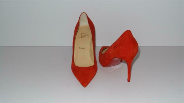 reputable site 51338 f1df9 $695 CHRISTIAN LOUBOUTIN DECOLLETE 554 85 RED LOUBI SUEDE PUMPS SIZE 37.5
