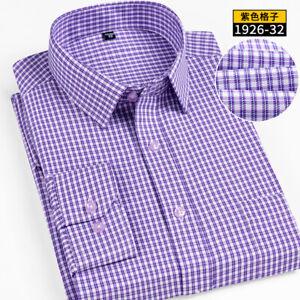Мужские длинные рукава рубашки пледы роскошный тонкий бизнес работа camisas ZC6594
