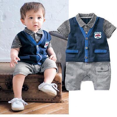 Newborn Baby Boy Romper Kids Bodysuit Clothing Toddler Infant Clothes Jumpsuit