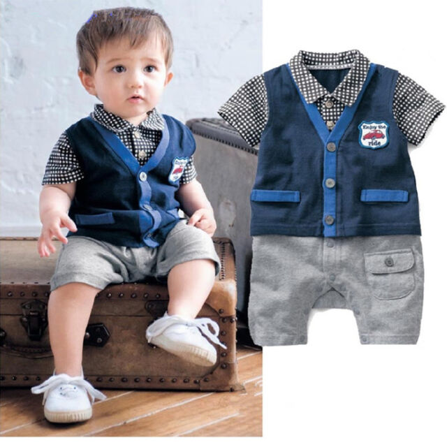 Newborn Baby Boy Romper Kids Bodysuit Clothing Toddler Infant Clothes Jumpsuit