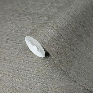 Taupe-Brown-Gray-Faux-Grasscloth-textures-wallpaper-Textured-modern-plain-rolls