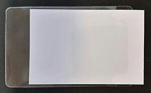 60-100-300-selbstklebende-Visitenkartenhuellen-95-x-60-mm-Visitenkartentaschen