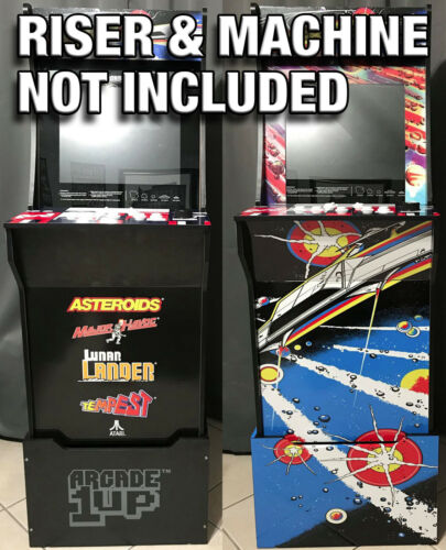 Arcade1up Cabinet Riser Graphics Asteroids Asteroid Graphic Sticker Decal Set
