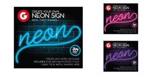 Leuchtreklame-zum-selber-machen-3m-Draht-Leicht-Nachricht-Party-Geburtstag-Neon