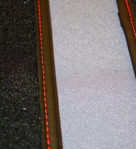 Honda Integra DC2 5 Piece Luxury Floor Mats With Luxury Edge Binding Red Stitch