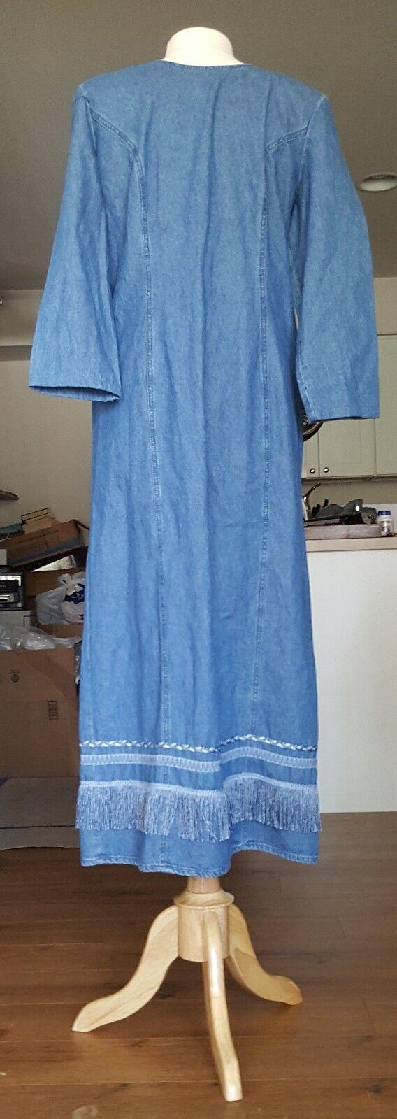 Women's SKETCHES bluee Denim Jean Dress-Size 12