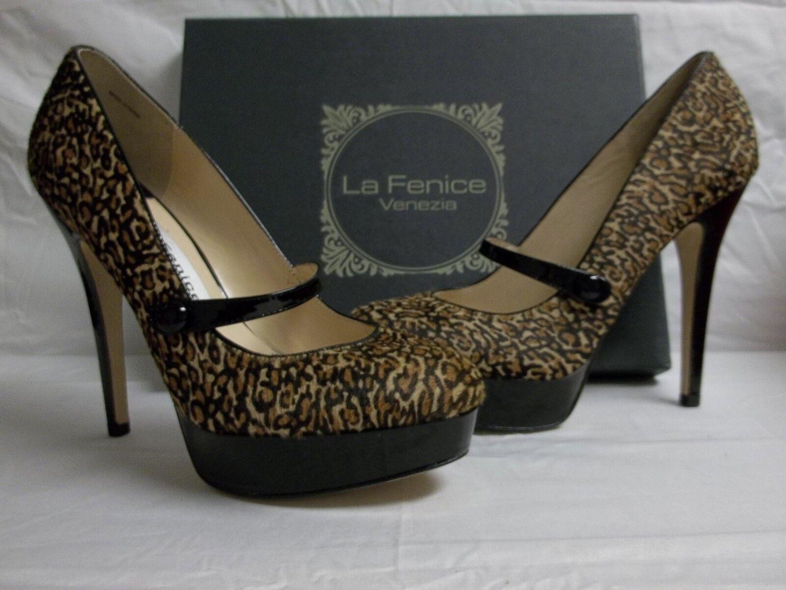 più sconto La La La Fenice Venezia Dimensione 8 M Ginevra Jaguar Leather Mary Janes New donna scarpe  qualità di prima classe