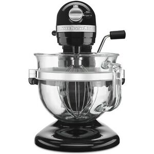 Brilliant Details About Kitchenaid Pro 600 Stand Mixer Design Seres 6 Qt Glass Bowl Onyx Black Kf26M2Xob Download Free Architecture Designs Ferenbritishbridgeorg