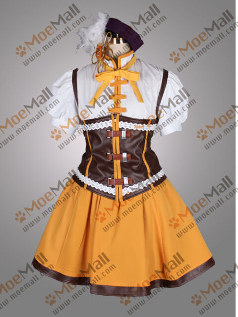 Puella Magi Madoka Magica Mami Tomoe Uniform Cosplay Costume Party Dress