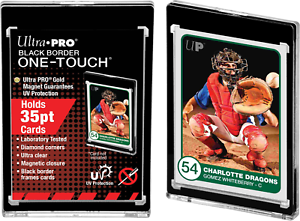 Ultra-Pro-UV-ONE-TOUCH-Black-Border-35pt-Magnetic-Closure-Trading-Card-Protector