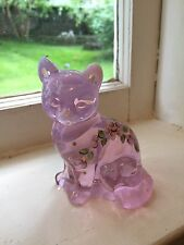 EXCLUSIVE! Scott K. Fenton Pink Chiffon Opalescent Cat 2001 Figurine# 5165 H2