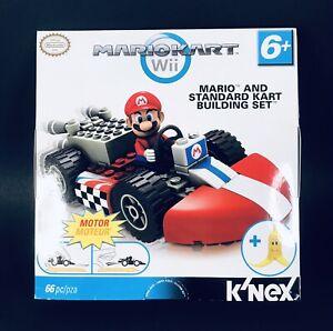 K'Nex MarioKart Wii Mario & Standard Kart Building Set 66pcs Nintendo NEW SEALED