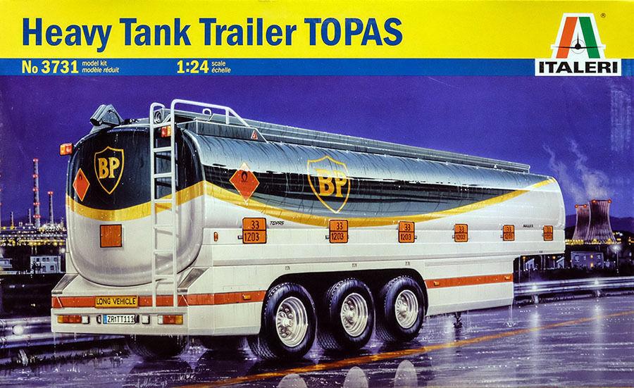 Italeri Heavy Tank Trailer Topaz Tank Trailer 1 24 Kit Model Set Art 3731