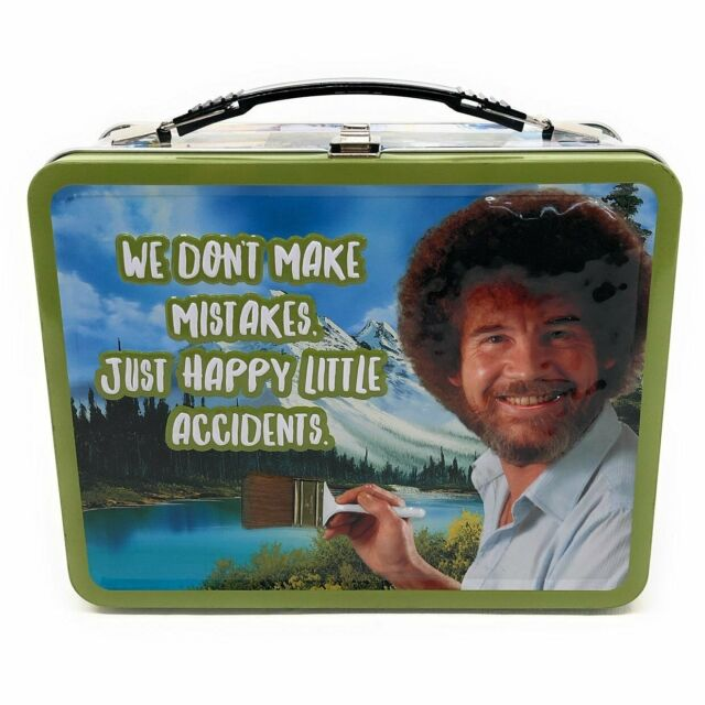 """Bob Ross /""""Happy Accidents/"""" Collectible Tin Lunchbox"""