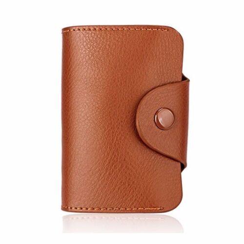 Aluminum Wallet RFID Blocking Anti Scan Pocket Holder Leather Credit Card Case