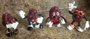 "California Raisin Band Vintage Rare 4 Piece 2 1/2"" Tall"