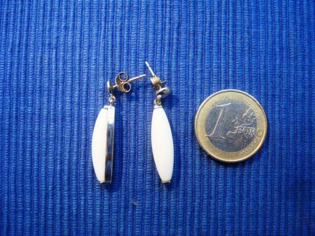 B18 Paire Boucle Oreille BO Argent Massif 925 Opaline lot bijou