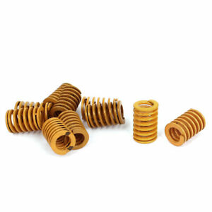 uxcell 14mm OD 20mm Long Spiral Stamping Extra Heavy load Compression Mould Die Spring Brown 10pcs