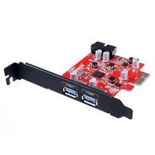 Inateck USB 3.0 Mini 2-Port PCI-E Express Card Cord-free Power Supply Adapter