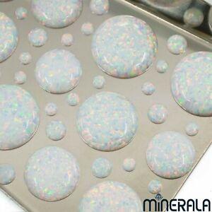 Großhandel Blau Synthetisch Künstlicher Opal Oval Cabochon Verschiedene Größen