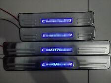 For Chrysler SRT8 200C 300 300C 2006-2014 Blue LED Light Door Sill Scuff Plate