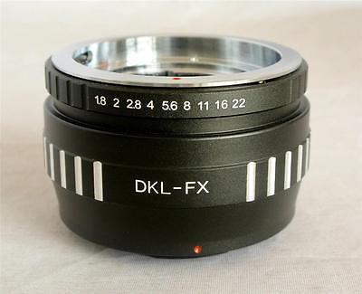 Voigtlander Retina DKL Lens to Fujifilm X X-Pro1 X-E2 X-M1 Mount Adapter DKL-FX