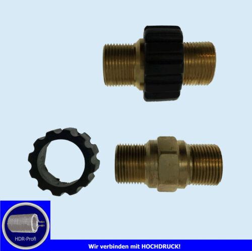 Adapter Kärcher Doppelnippel M22 AG Schlauchverbinder Schlauch Verlängerung