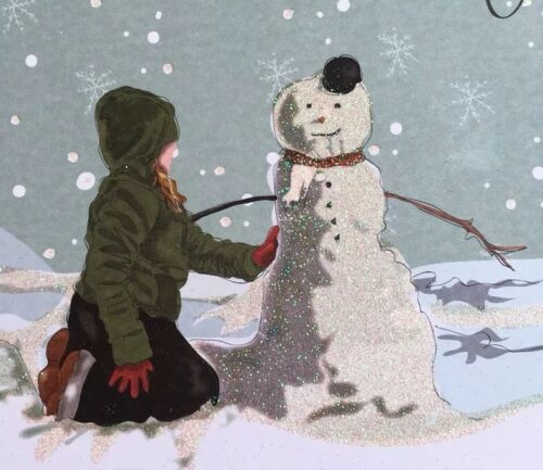 "Snowman Design Xmas General Christmas Card 6/""x6/"" /'Seasons Greetings/' Open"