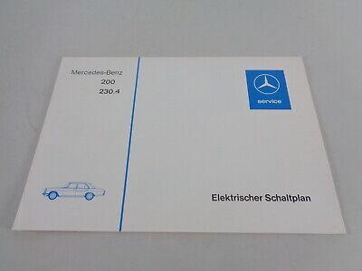 Electric Wiring Diagram Mercedes W115/8 200, 230.4 Petrol By 08/1976 | eBayeBay