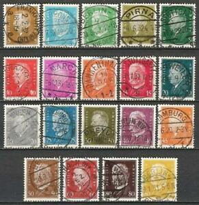Germany (Weimar Rep.) 1928-1932 Used - Ebert/Hindenburg Full Set SG-424-442
