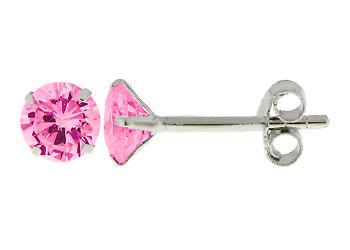 Boucles Oreilles Puce Cathédrale Diamant Cz 5mm Argent