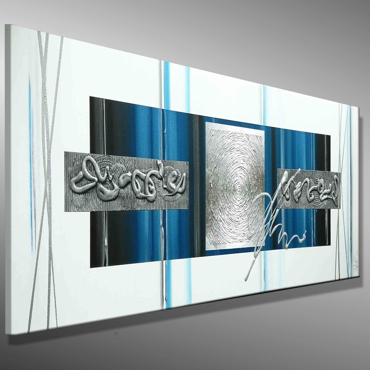 MODERNE KUNST Acrylbild MALEREI Leinwand Bilder original abstrakt  MICO - 120x40
