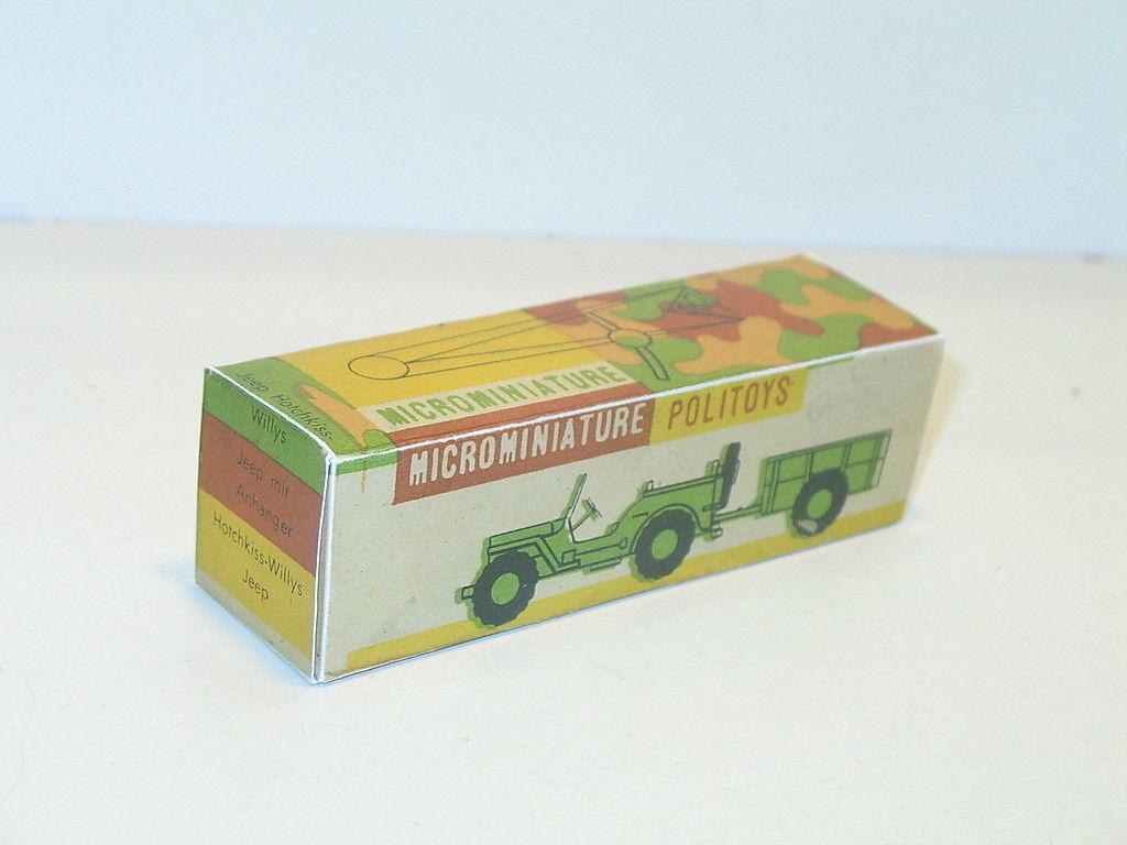 N108, Schachtel Politoys, Jeep Hotchkiss , N9 Militär