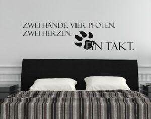 Details Zu Wandtattoo Hunde Ein Takt Wandspruch Sprüche Vier Pfoten Zwei Herzen