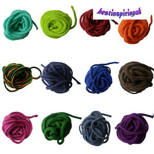 5mm TURQUOISE Cord Polyester ParaCord Braided Rope Soft Colour Color Sewing Trim
