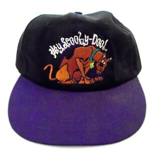 1870abe2d Details about Vintage Hay Scooby Doo Hat Cap 1998 Hanna Barbara Black /  Purple