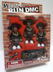 Mez-itz Run Dmc Mini Figurines de Mezco - Nouveau dans la boîte avec micros et platines