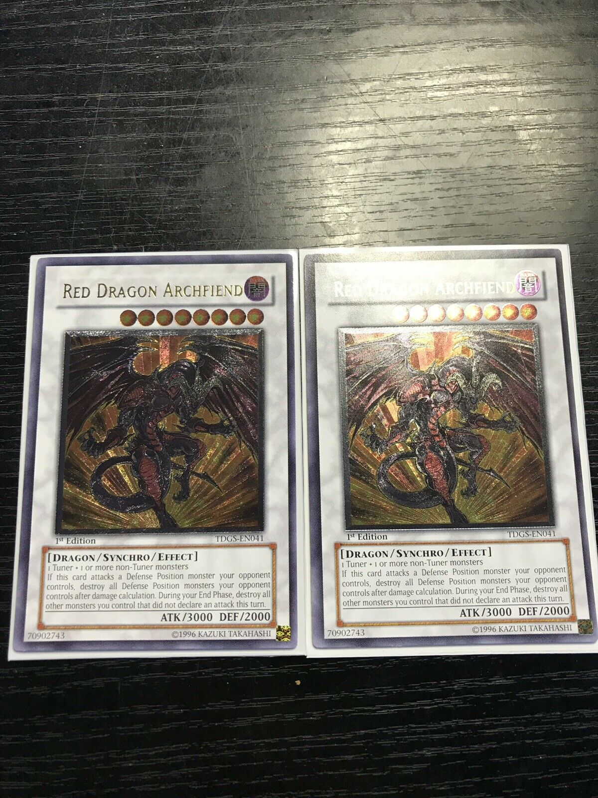 YugiohレッドドラゴンアーチエンドTDGS - EN 041アルティメット第1版ミント!