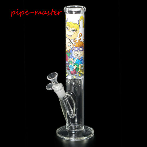 Hookah Smoke Bong Shisha ICE Catcher Holder 12/'/' Heavy Cartoon Glass Water Pipe