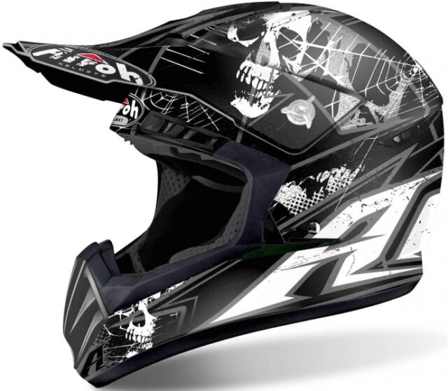 Casque Helmet Helm Capacete Cross Airoh Switch Scary Taille L