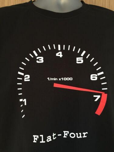 T Shirt FLAT FOUR 4 design 356 914 912 912E 718 Boxster Cayman Beetle Veedub